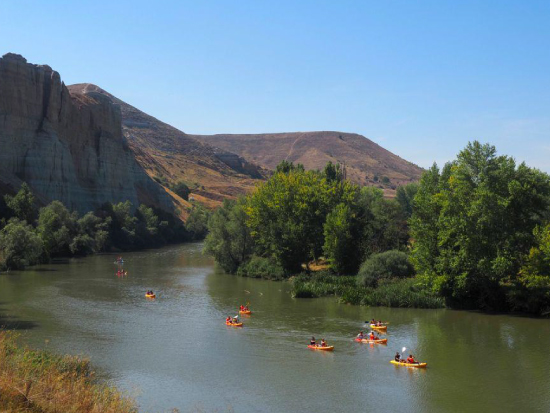 Ruta para grupos en Piragua por el Pisuerga